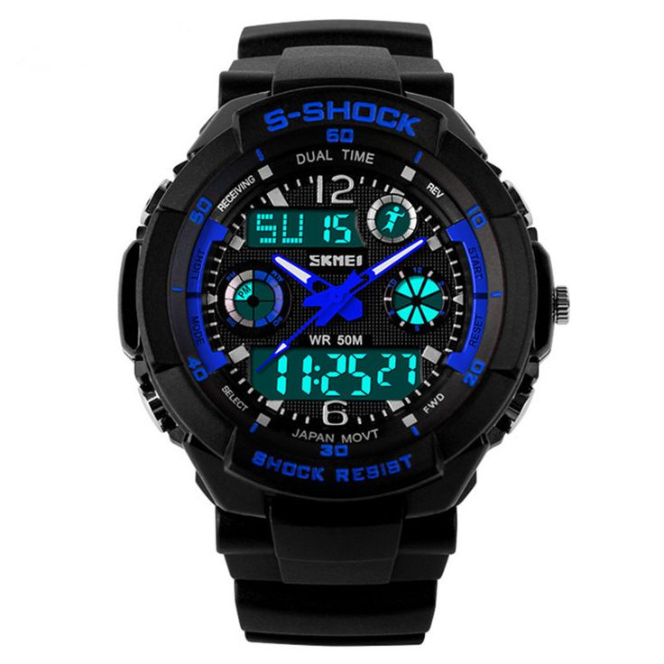New 2015 Men Sports Watches Men Casual Dress Digital watch 2 Time Zone Quartz Electronic LED dive Military  wristwatches Relogio - http://www.aliexpress.com/item/New-2015-Men-Sports-Watches-Men-Casual-Dress-Digital-watch-2-Time-Zone-Quartz-Electronic-LED-dive-Military-wristwatches-Relogio/1862920759.html