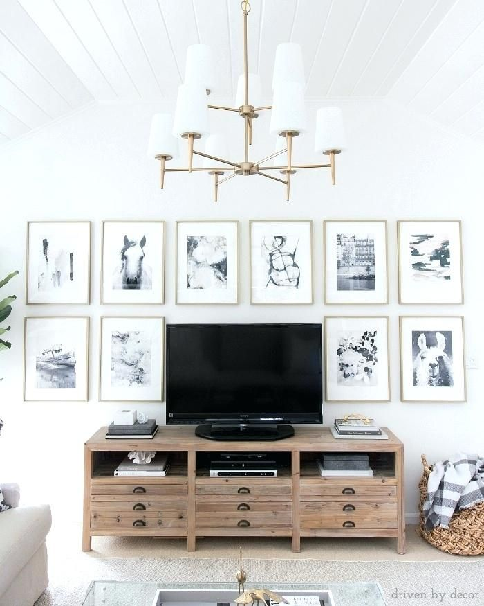 Decorating A Tv Wall Love This Idea Of How To Decorate Around A Flat Screen Decorating Blank Wall Behind Tv Family Room Makeover Tv Wall Decor Room Decor
