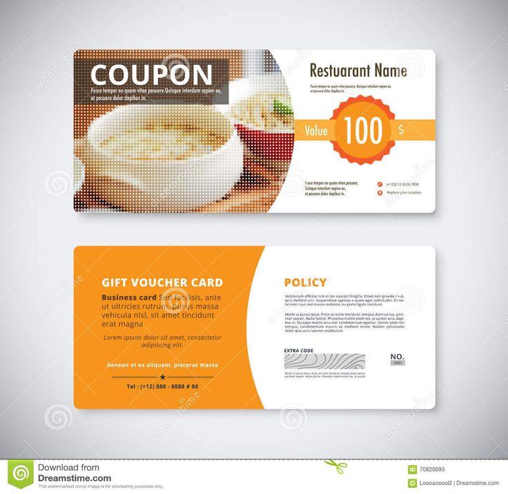 45 best Vouchers images on Pinterest Gift vouchers, Gift voucher - food voucher template
