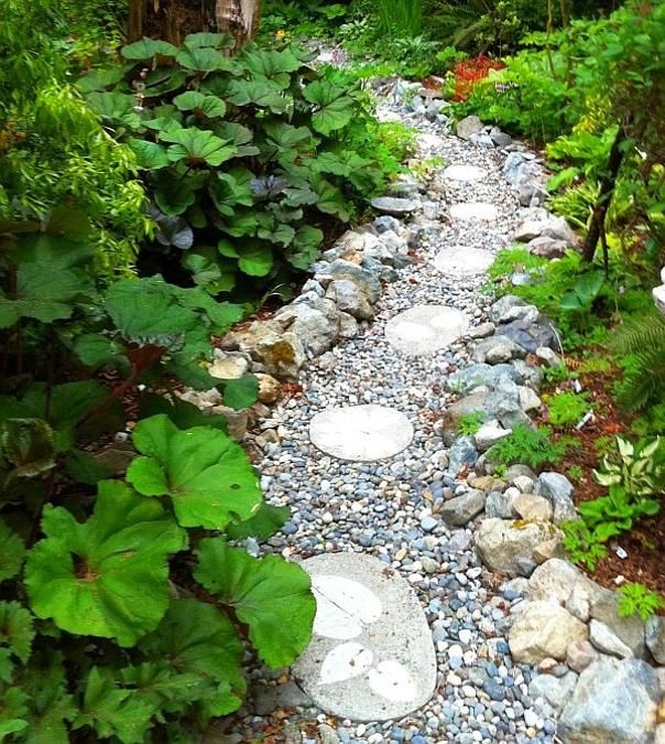 pebbles garden paths, patio designs, yard landscaping ideas