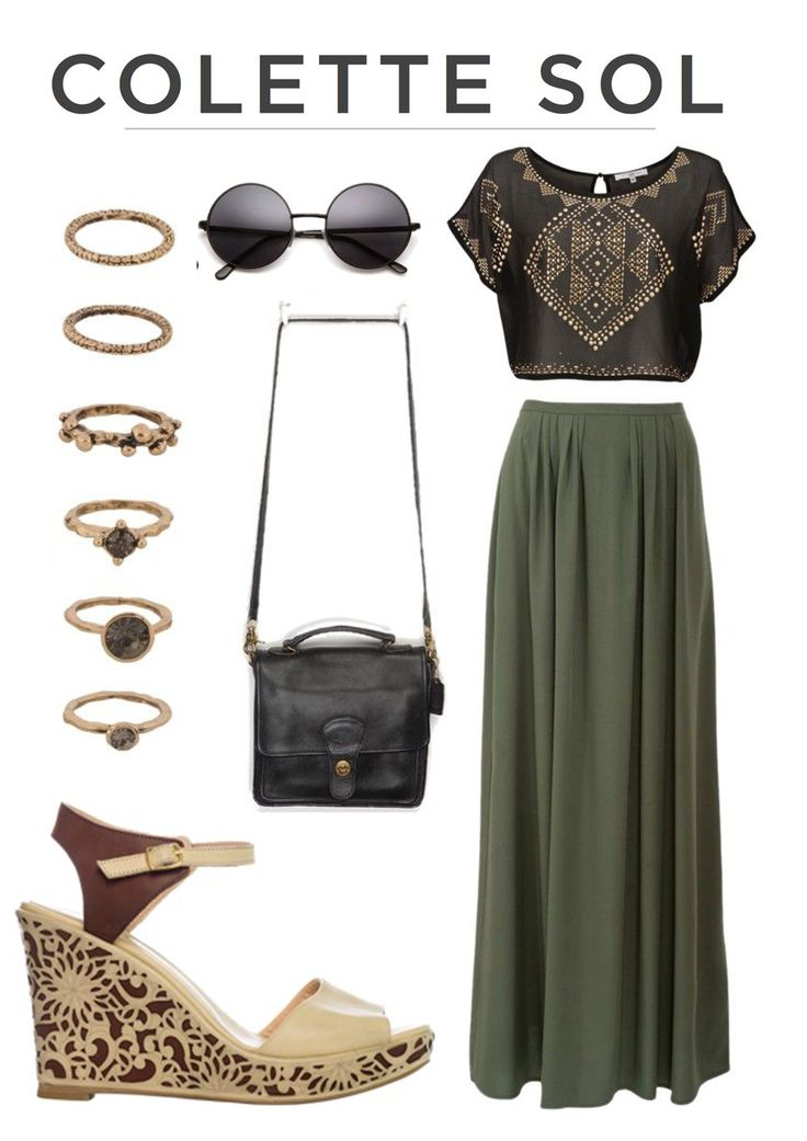 Laser cut brown wedge with a hippie twist. Colette Sol How to wear, get the look online at www.colettesol.com