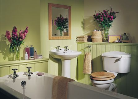 i have a green bathroomneed ideas like purple