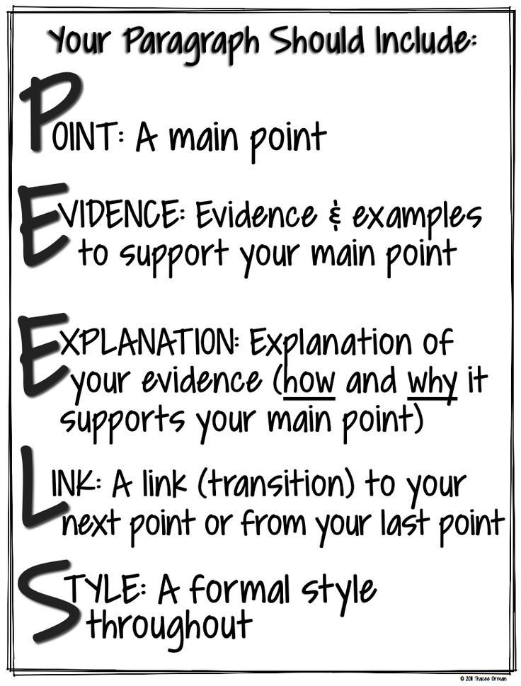 Peel writing assessment
