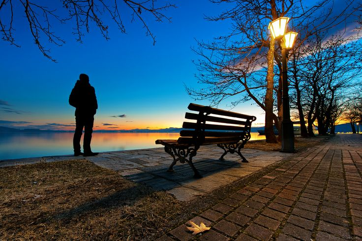 GREECE CHANNEL | Sunset bench by Nikos Koutoulas on 500px Kastoria