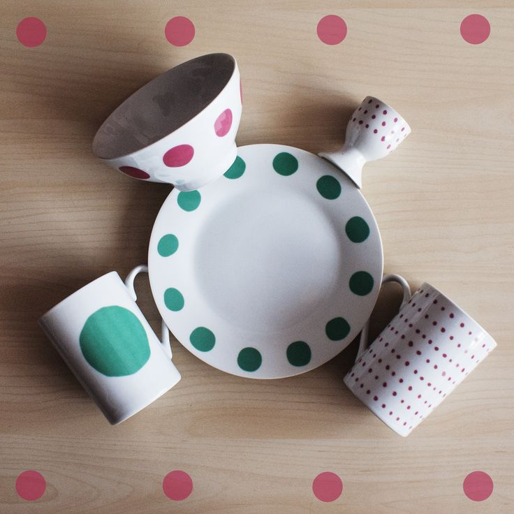 #tigerpolska #tigerstores #dots #groszki #kropki #grochy #kropeczki #plate #talerz #mug #kubek #bowl #miska #miseczka #kitchen #kuchnia #eggcup