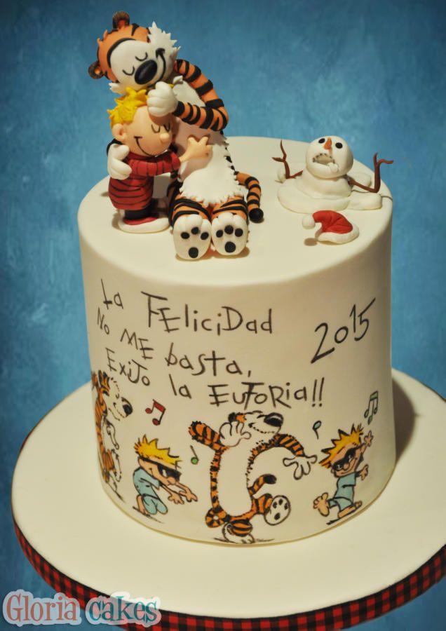 Calvin & Hobbes Cake - Cake by GloriaCakes