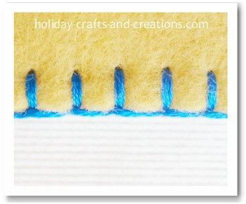 Recently, I needed a refresher course on how to do the Blanket Stitch.  This was the best tutorial I found showing how to do this beautiful stitch properly.