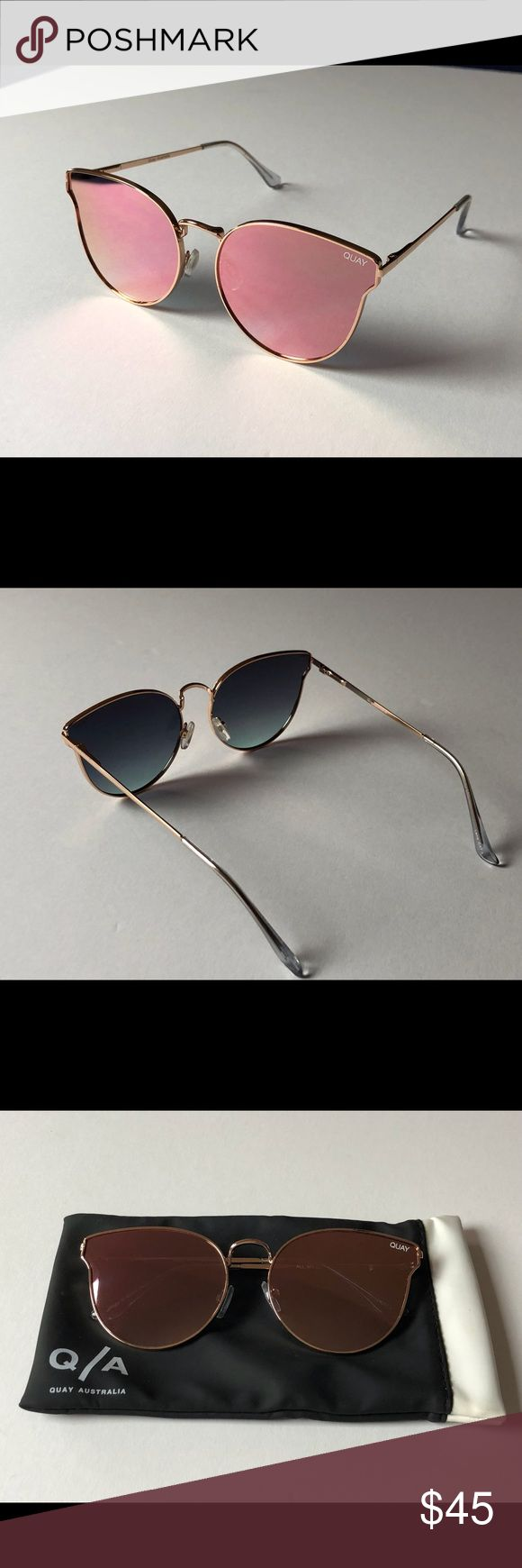 Quay Australia all my love sunglasses in rose gold Quay Australia all my love sunglasses in rose gold- up for sale are Quay Australian sunglasses in great condition with soft case. Tiny scratch on lense, barley noticeable in good lighting. $45 Quay Australia Accessories Sunglasses