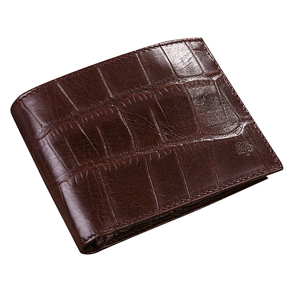 55e3bbf64e59 Mulberry Men s Printed Leather 12 Card Wallet Brown £84.99 Save  58% off
