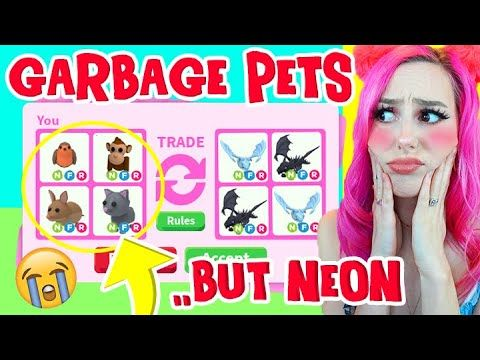 I Traded The Most Hated Neon Pets Roblox Adopt Me