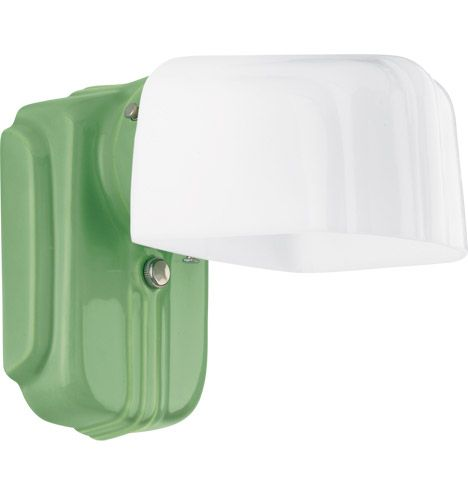 Selma Streamline Wall Bracket - Streamline Porcelain light fixtures were popular from the 1920s through the '50s due partly to their low cost and easy-care surfaces.