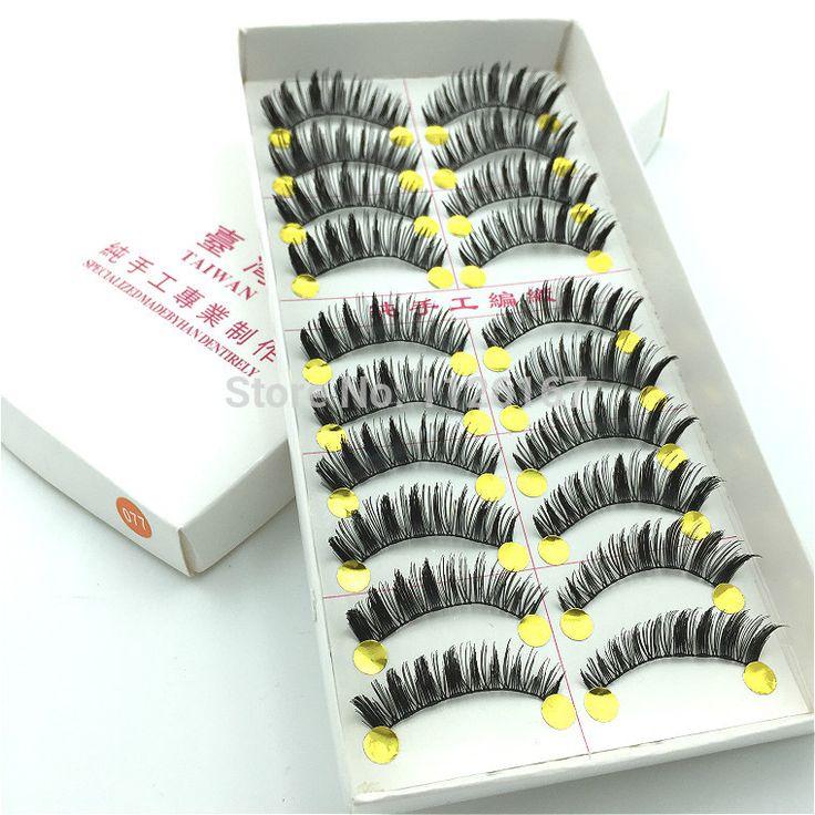 Molto belle ciglia 10 paia/lotto alato rifornimenti di bellezza ciglia individuali ciglia finte non includere colla for lashes