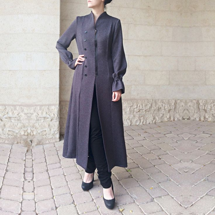 Long Line Jacket - Grey by LanaLik on Etsy