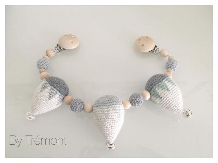 Så blev denne fine kæde sendt afsted til @lillemy_ så lækre farver #babypynt…