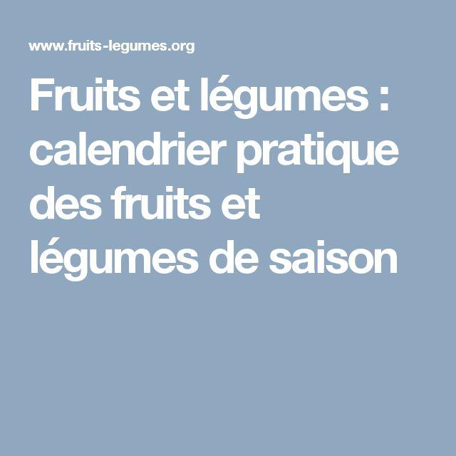 Fruits et légumes : calendrier pratique des fruits et légumes de saison