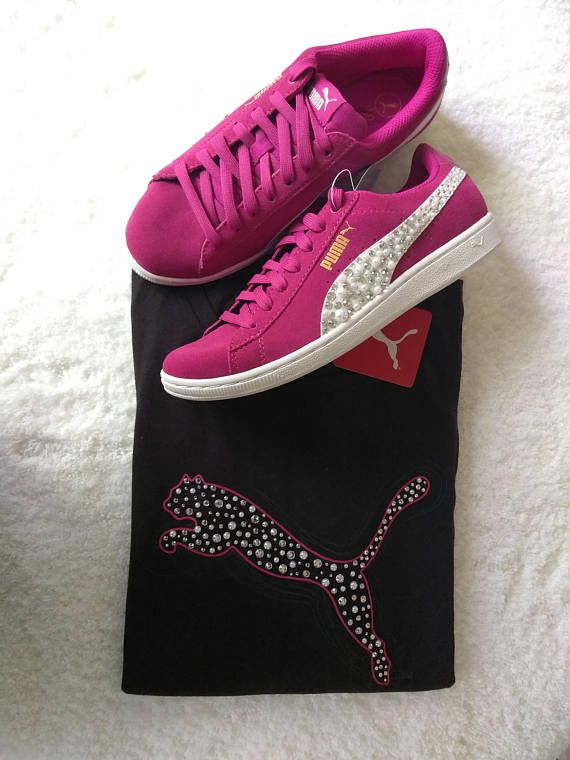 Bling Rhinestone Womens Puma Shoes, Womens Puma Shirt, Crystal Puma, Bling Shoes, Custom Shoe, Custom Rhinestone Shoes, Bling Women Puma Set