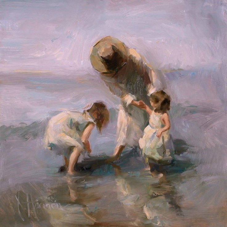 """A Day to Remember"" by Johanna Harmon: Beach Art, Art, Art Paintings, A Day To Remember, Johanna Harmon, Beautiful, Paintings Artists, Harmon Art, Oil Painting"