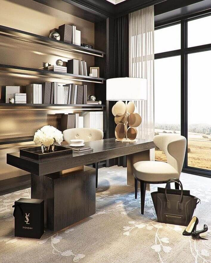 20 Modern Home Office Ideas To Create The Ultimate Work Environment In 2020 Home Office Design Modern Home Office Modern Office Decor