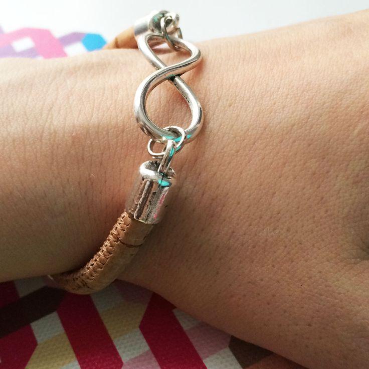 Cork Infinity bracelet