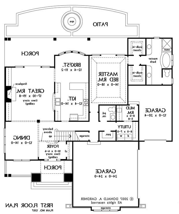 First Floor Plan Of The Canterbury House Plan Number