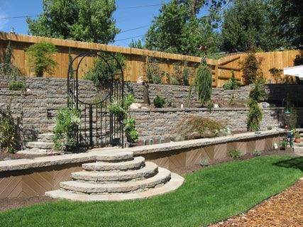 Terraced Retaining Wall, Landscaping