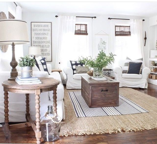 Home Decor For Farmhouse Design Take Your White House And Add Pops Of Color An Farmhouse Decor Living Room Farm House Living Room Rustic Farmhouse Living Room #white #living #room #with #pops #of #color