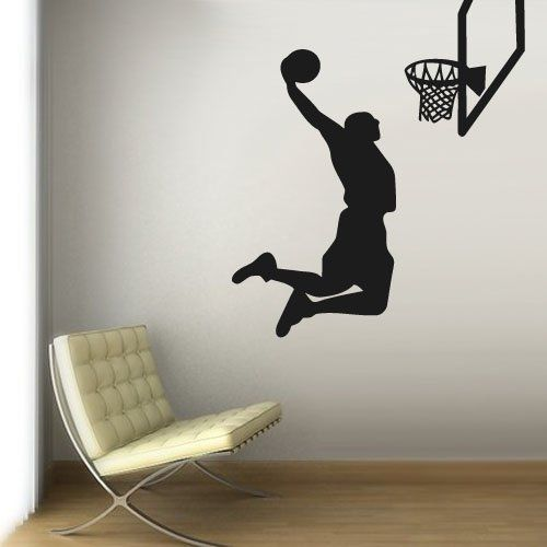 Wall Vinyl Sticker Decals Decor Art Bedroom Design Mural Modern Design La  Lakers Basketball Ball Sketch