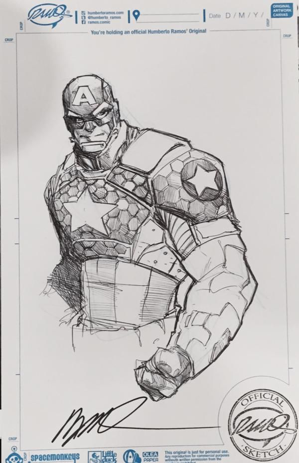Captain America by Humberto Ramos [Boston ComicCon 2015]