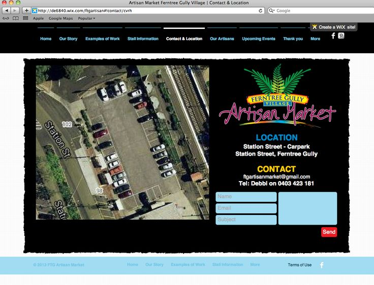 http://de6840.wix.com/ftgartisan Contact Us page of our website by Debbi Douglas 2013