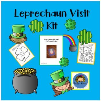 St. Patrick's Day will be filled with sight words, numbers and reading fun as your children find the Leprechaun's clues!  This all inclusive kit will provide a day of fun, excitement and learning!  Included in the kit:Directions to set up your kitMorning message from the Leprechaun10 Shamrock movement activity cards&bull:2 Leprechaun clues2sight word coloring sheets-Leprechaun girl and boyRoll and color math gamePat's Pots cvc cut and pasteTemplates to make a leprechaun faceYou found a po...