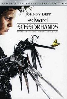 EDWARD SCISSORHANDS (1990): An uncommonly gentle young man, who happens to have scissors for hands, falls in love with a beautiful teenage girl.