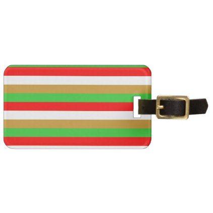 Tajikistan flag stripes luggage tag - patterns pattern special unique design gift idea diy