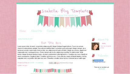 isabella blog template blogger templates pinterest templates