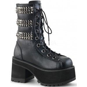 96bb4ba4afe Ranger Studded Womens Platform Combat Boot Our Price  93.95 These Ranger  305 ankle boots in combat style for women have 3 rows of pyramid studs and  ...