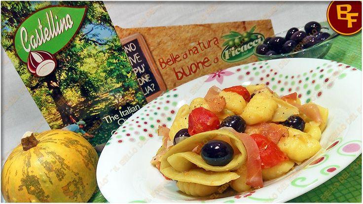 Gnocchi di patate con fagioli meraviglia olive e speck