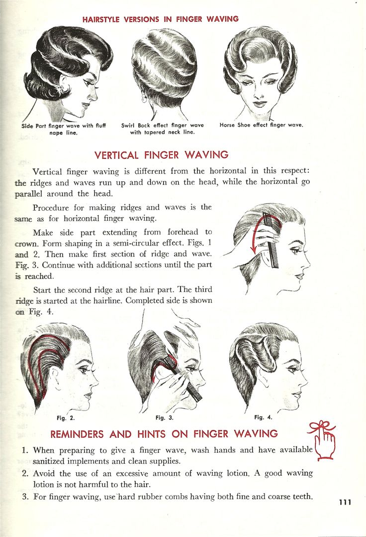 Vintage Finger Waving Instructional/// never underestimate a good finer wave! wow i remember doing these #FingerWaveFashion