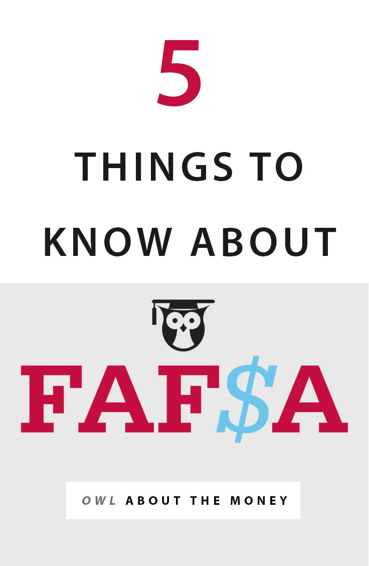 Five tips that will help you fill out your FAFSA (Free Application for Federal Student Aid). From Temple University's Owl About the Money series on college affordability.