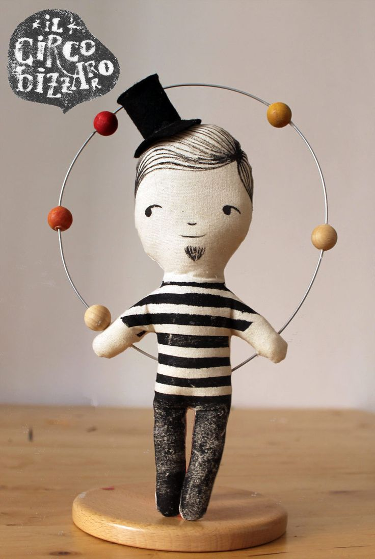 "The juggler in black - ""Il Circo Bizzarro"" Series (28.00 EUR) by LeBambocce"