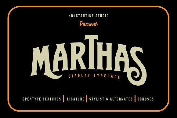 Marthas Vintage Branding font by Konstantine Studio on @creativemarket