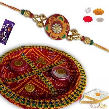 Traditional Rakhi Thali with Premium Rakhi  @http://www.rakhistoreonline.com/