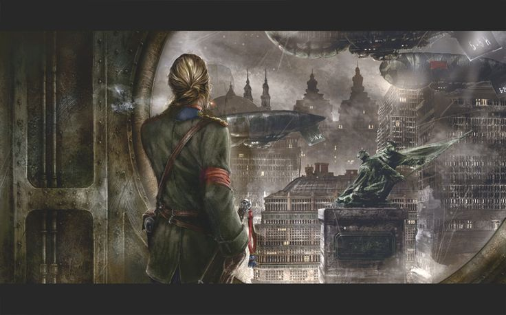 """Sybera by Remton. Done in Photoshop with a """"Wacom"""", in a few days, kind of """"matte paint"""". Some ref used, but nothing signifiant. A kind of """"sovieto-steam punk"""". Hope you will like it.."""