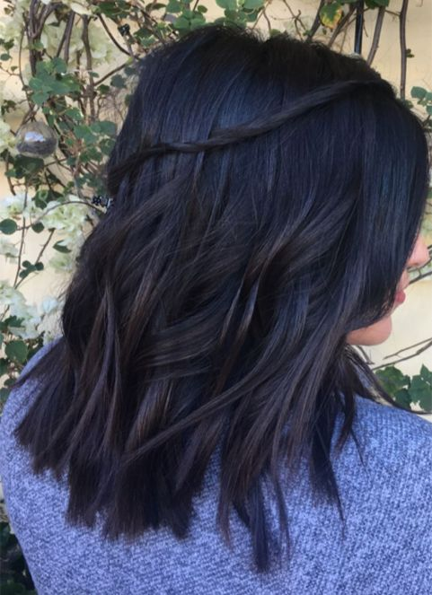 Waterfall Braid Hairstyles Ideas Dark Wavy Hair