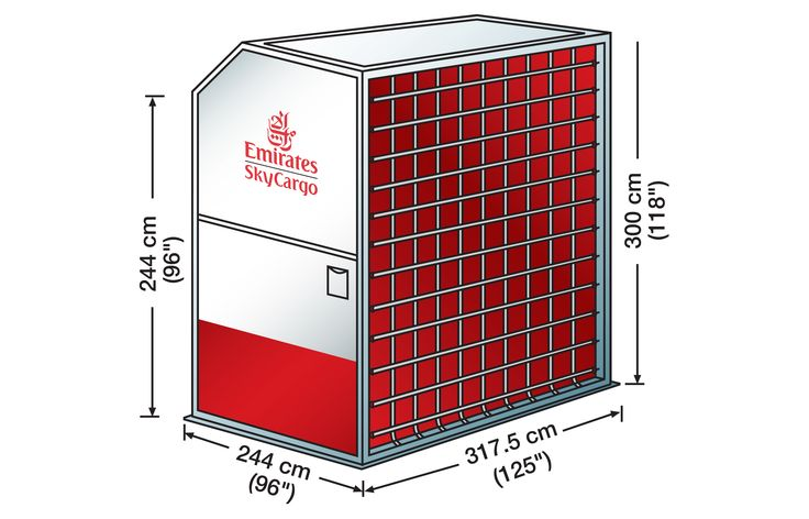 M5 (AMD contoured container)    Volume: 19.9 cubic metres   Standard Tare Weight: 305 kg   Max. Gross Weight: 6,804 kg
