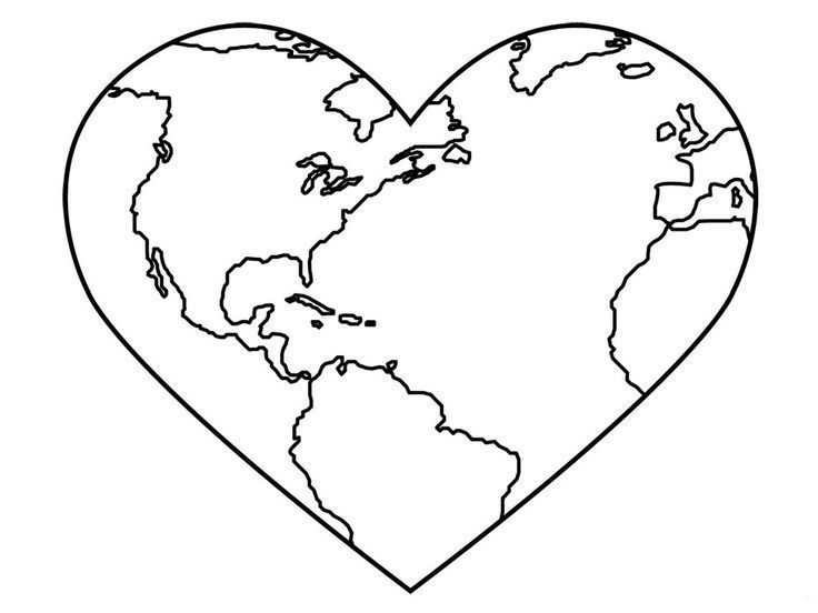 I (heart) the Earth Printable Craft | All About Family Crafts ... | 552x736