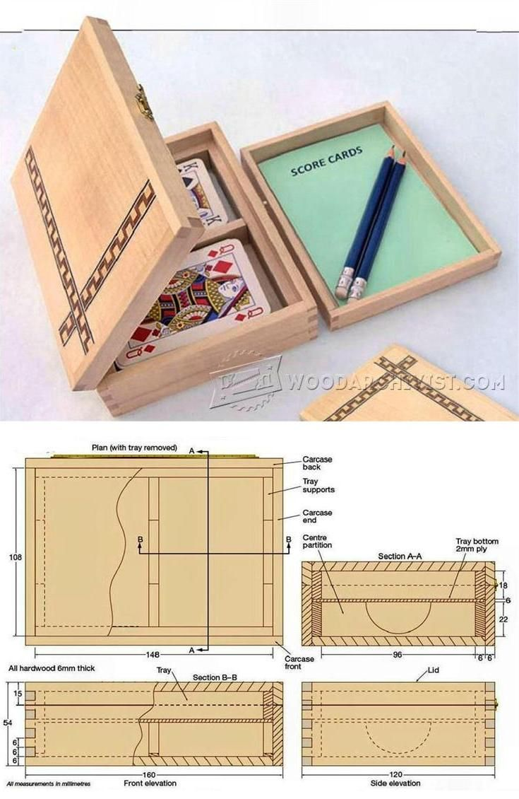 Playing Card Box Plans - Woodworking Plans and Projects | WoodArchivist.com