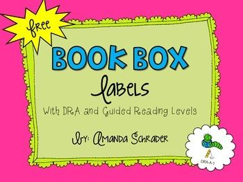 FREE BOOK BOX LABELS!!! You gotta grab these, DRA and F&P levels!