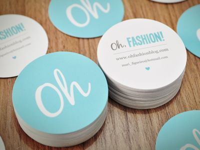Oh, Fashion! Business Cards, from a simple logo you get these beautiful business cards, for clients, next time consider, simple is best..