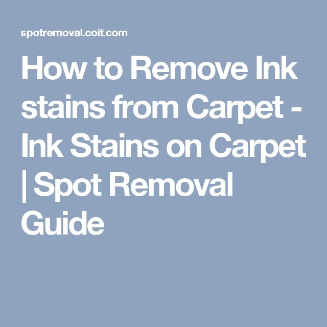 How To Remove Pen Ink Stains From Carpet