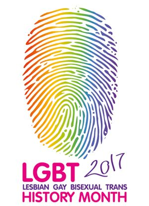 """""""The 2017 LGBT History Month badge was based on the theme """"Law and Citizenship"""". I wanted to create a visual symbol that would join together both. ... I came up with the idea of using a finger print, since in a lot of places it is the mark left after voting, participating actively in society and the creation of community..."""" ARELI JACOBS, 2017 Badge Designer, University of Bedfordshire"""