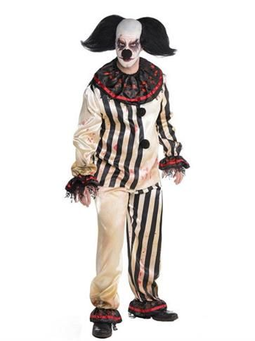 scary clown costume adult costume front